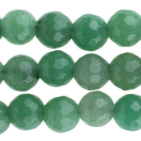 green aventurine green aventurine 10mm faceted large bead 8 inch