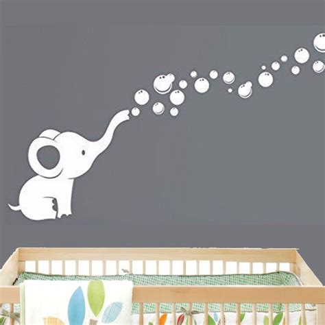 nursery vinyl wall decals aliexpress buy elephant bubbles baby wall decal