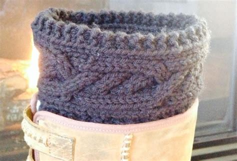 cable knit boot cuffs pattern cabled boot cuff a free knitting pattern threaded together