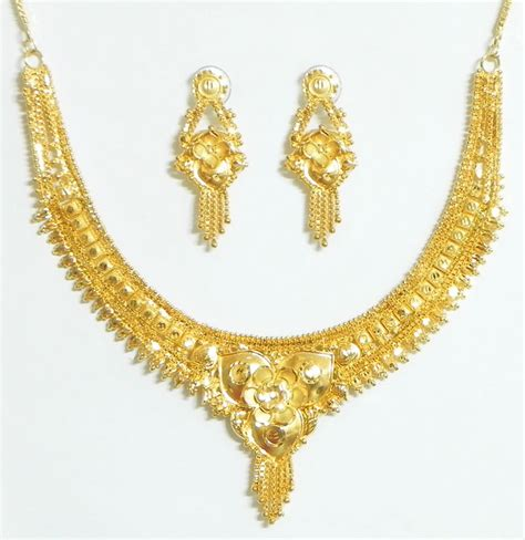 how to make gold plated jewelry gold plated bridal necklace set with adjustable chain