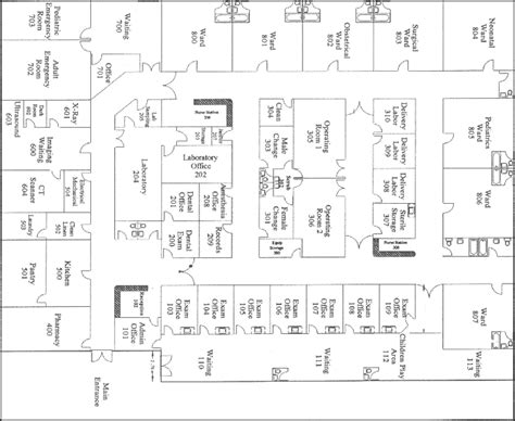 floor plan of a hospital cimed international healthcare