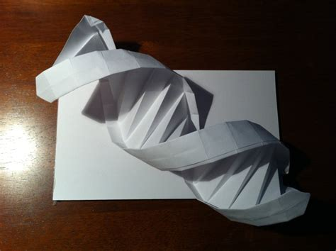 origami dna helix 99 a dna helix setting the crease