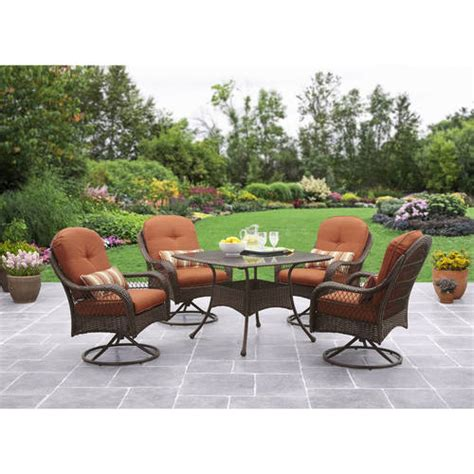 walmart better homes and gardens patio furniture better homes and gardens azalea ridge 5 patio dining