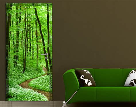 Forest Wall Mural door photo wall mural romantic forest track wallpaper