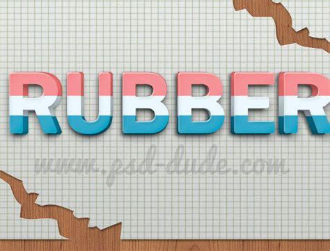 rubber st effect in photoshop eraser photoshop text effect photoshop tutorial psddude
