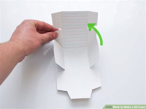 how to make a cube out of card 3 ways to make a 3d cube wikihow