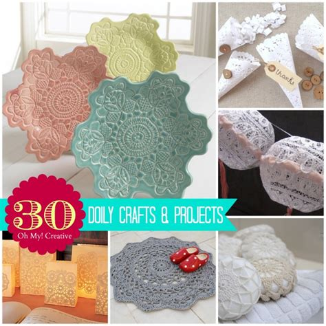 crafts projects 30 diy doily crafts oh my creative