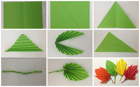 paper leaves craft paper crafts how to make phpearth