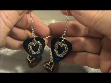 how to make guitar jewelry how to make beautiful earrings out of fender guitar picks