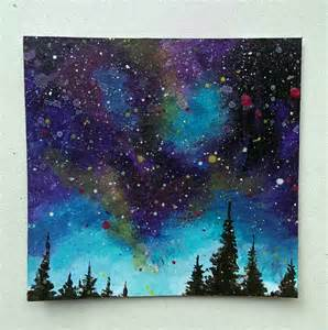 acrylic painting a galaxy galaxy painting tutorial acrylic www imgkid the