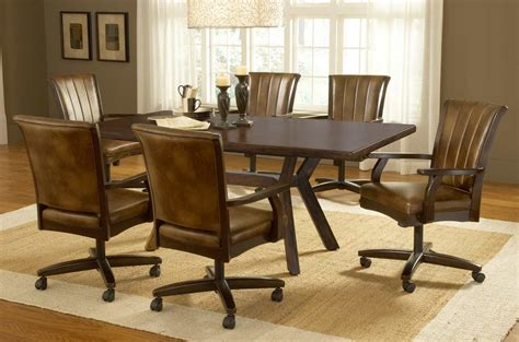 dining room chairs with casters ideas for dining chairs with casters 17579