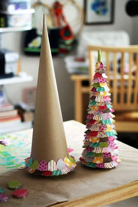 paper cone tree craft cone trees