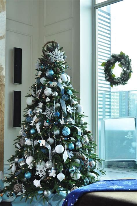 blue and silver tree decorations ideas 35 silver and blue d 233 cor ideas for and new year