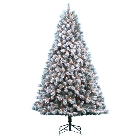 snow flocked tree donner blitzen incorporated 7 5 pre lit snow country