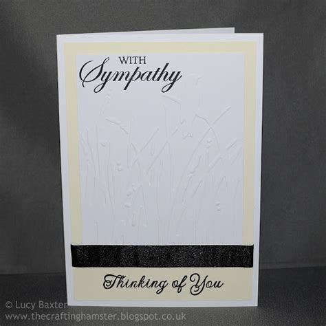 make sympathy card the crafting hamster with sympathy card