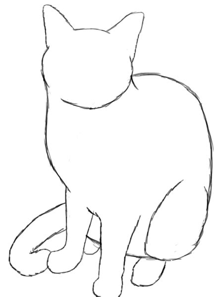 cat simple how to draw a cat draw central