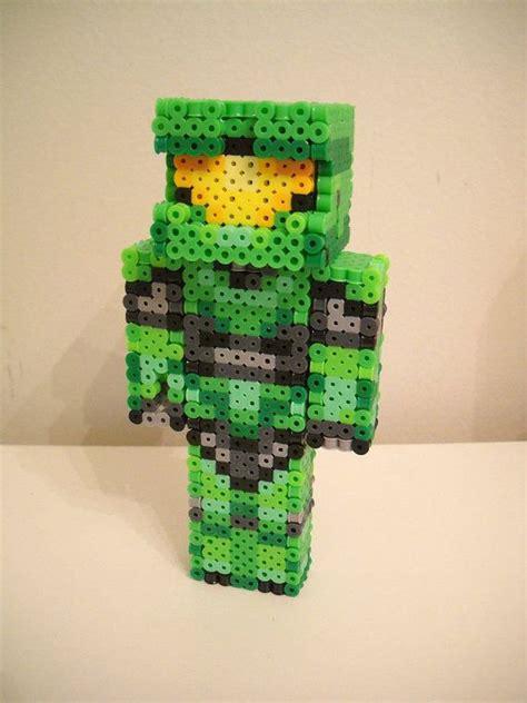 perler minecraft halo quot master chief quot 3d perler minecraft skin perler