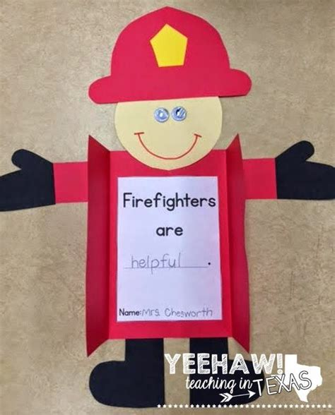 safety crafts for firefighter craft and differentiated writing activities