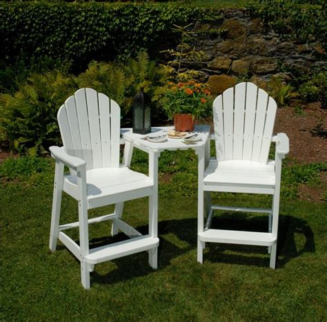 Seaside Casual Adirondack Chair by Seaside Casual Adirondack Dining Bar Tete A Tete Tabletop