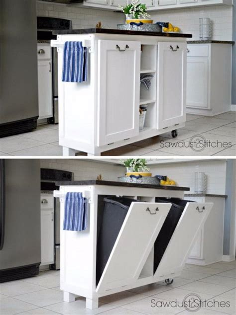 kitchen island for small space best 25 trash bins ideas on trash can cabinet