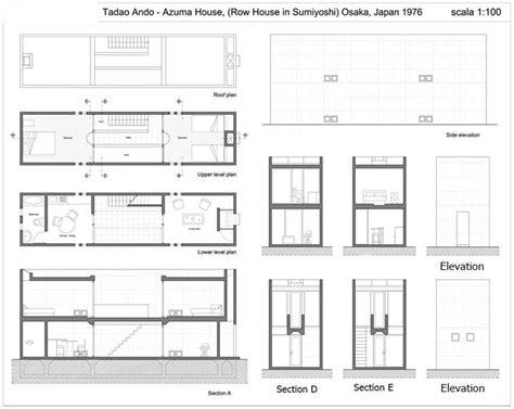 tadao ando floor plans row house azuma by tadao ando at sumiyoshi osaka
