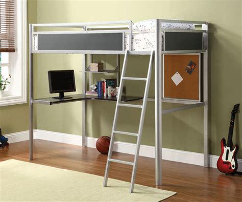 metal bunk bed with desk 15 functional metal loft bed with desk bedroomm