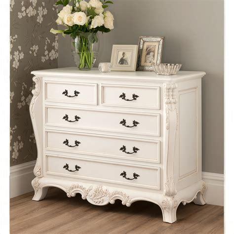 la rochelle antique style chest whiter bedroom