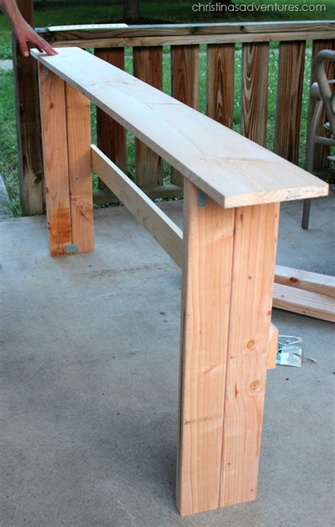 how to build a sofa table diy sofa table christinas adventures