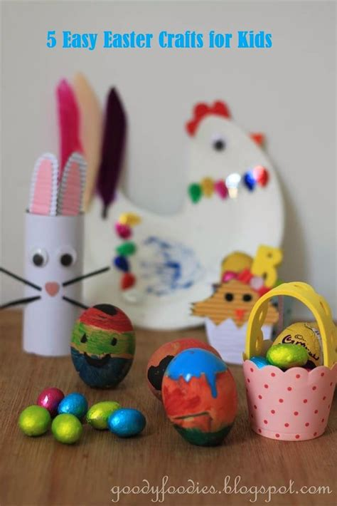 simple easter crafts for goodyfoodies five easy easter crafts for