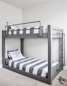on bunk beds diy industrial bunk bed free plans cherished bliss