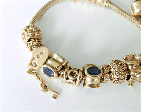 charms jewelry pandora gold charm bracelets at 1stdibs
