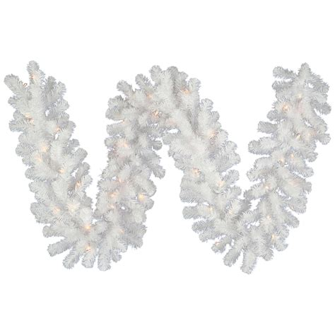white lighted garland garland search