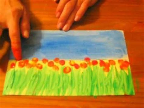 painting crafts for field of flowers a preschool early elementary painting