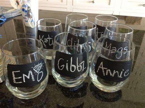 diy chalk paint glasses crisp diy chalkboard wine glasses