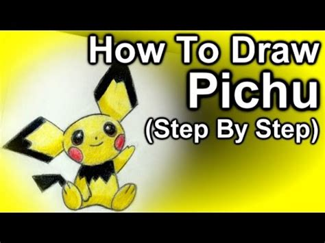 how to make an origami pikachu step by step how to draw pichu step by step