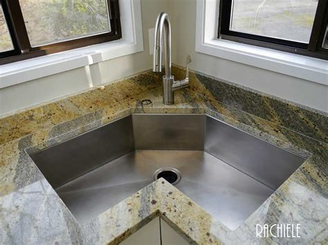 kitchen sinks corner corner kitchen sinks in copper and stainless steel that
