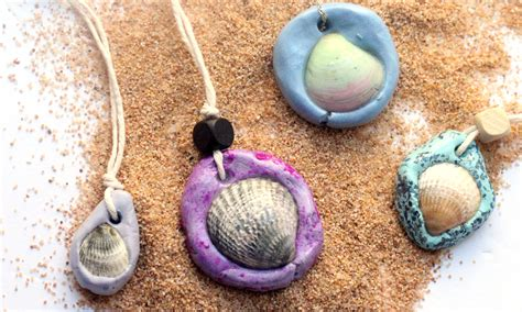 necklace crafts for seashell necklace an easy clay jewelry craft and