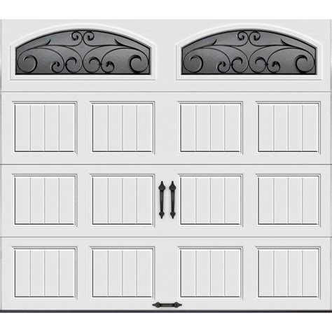 garage door panels home depot clopay gallery collection 16 ft x 7 ft 18 4 r value