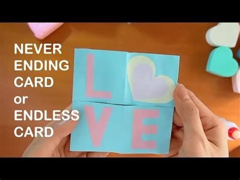 how to make a endless card how to make never ending card endless card origami fold