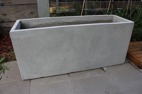 concrete planter boxes garden pots batch of 6 x 100cm light weight concrete