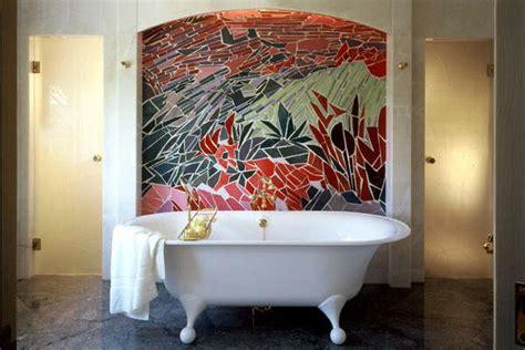 une mosaique en d 233 cor dans une salle de bain vue g 233 n 233 rale marbrerie et d 233 coration