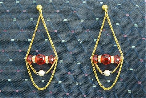 how to make glass bead earrings how to make chain earrings with glass and acrylic