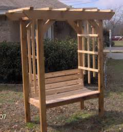 pergola with bench new cedar wood garden arbor with bench pergola arch