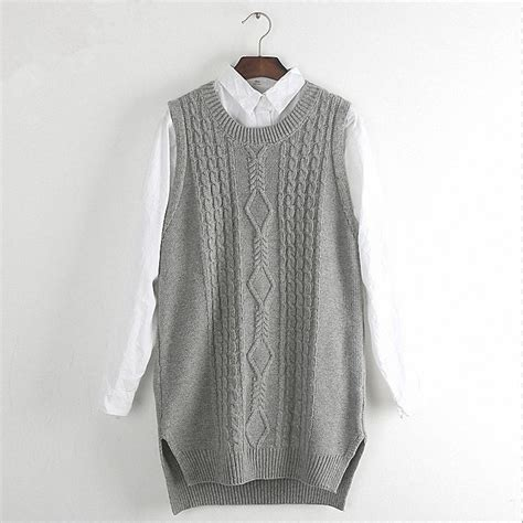 knitted waistcoats casual winter knitted waistcoat casual solid split