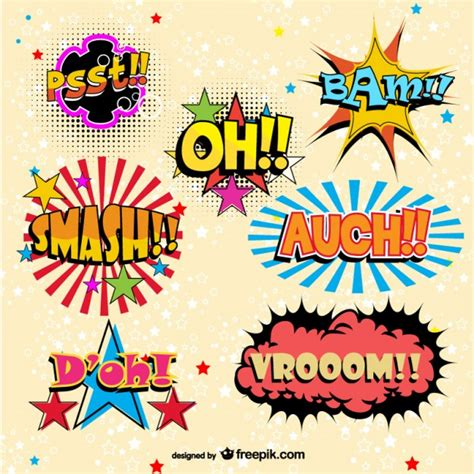 comic book elements vector vector free vector download