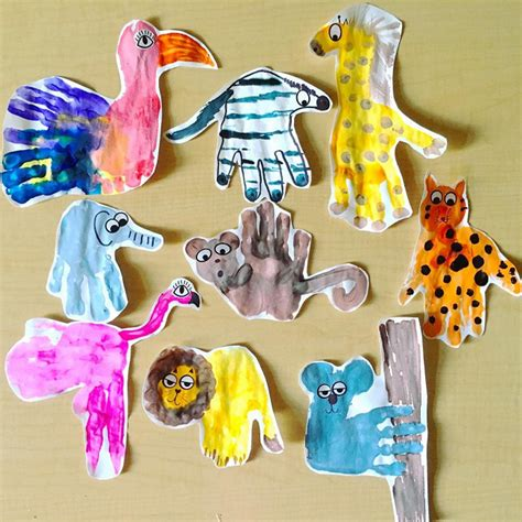 animal craft for zoo animal handprint crafts for crafty morning