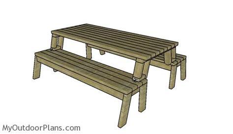 free picnic table plans folding picnic table plans myoutdoorplans free