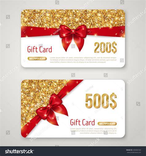 gift card designs gift card design gold glitter texture stock vector