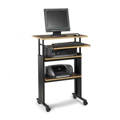 adjustable stand up computer desk printer
