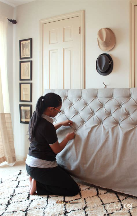how to make headboard for bed diy tufted headboard 2